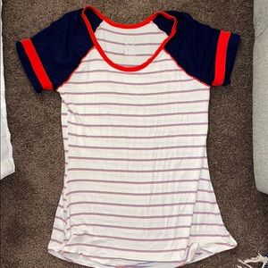 maurices striped simple tee